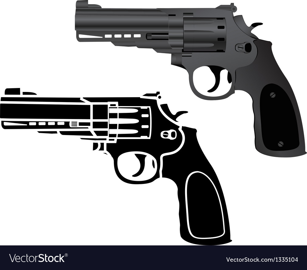 Two pistols vector