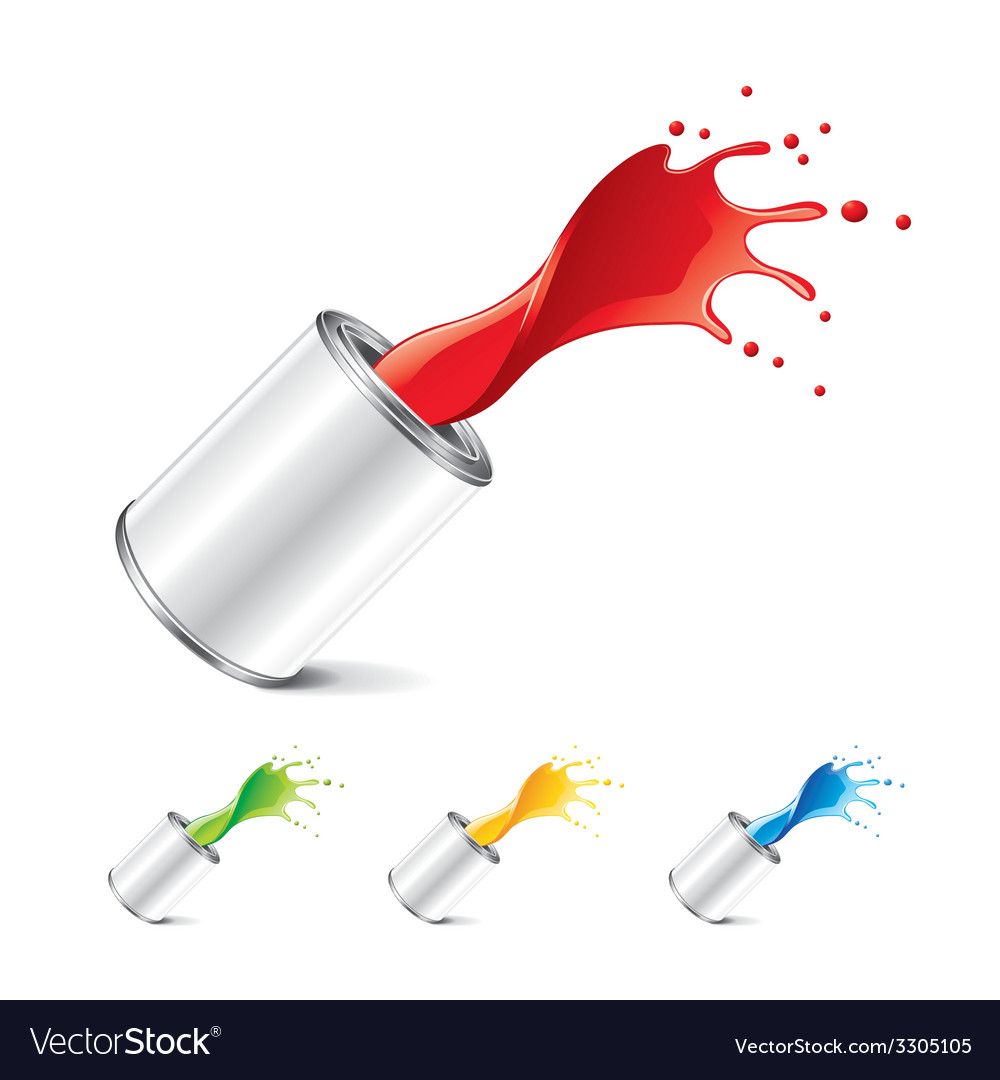 Paint can isolated vector