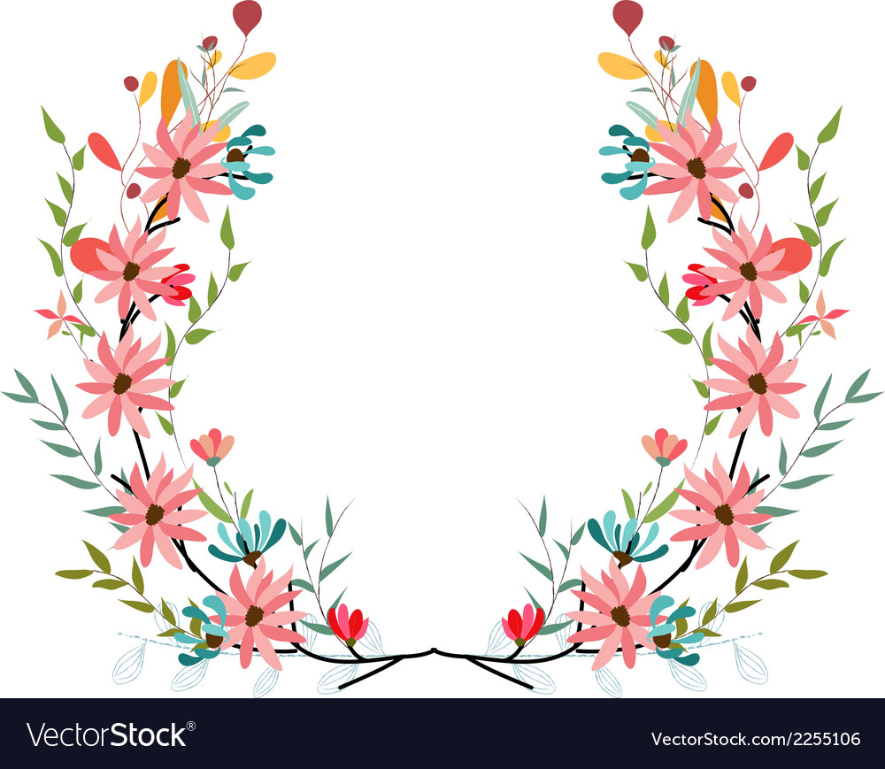 Banners floral frames and graphic elements vector