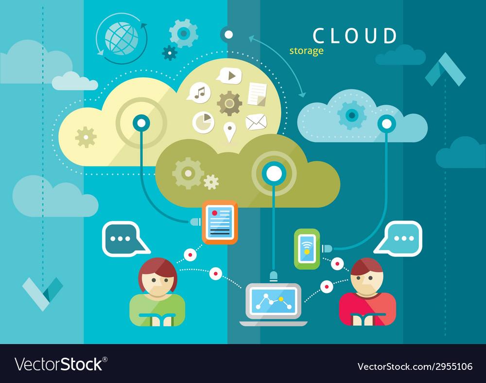 Cloud computing internet concept vector