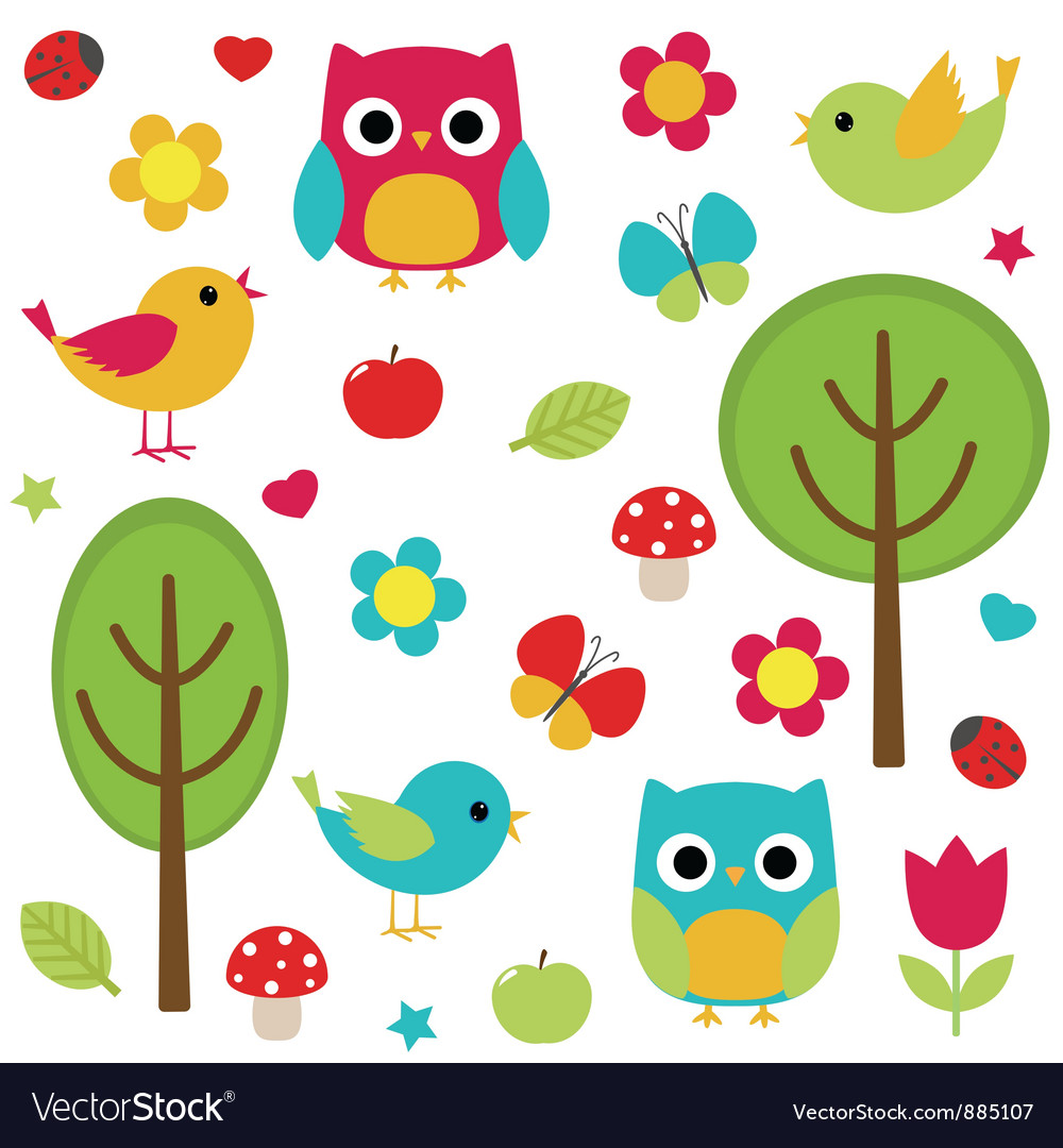 Nature set vector