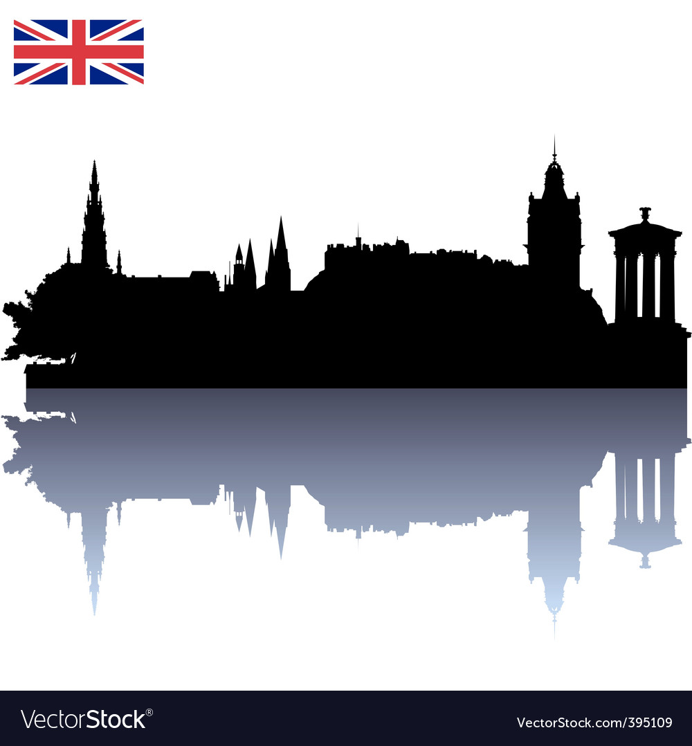 Edinburgh silhouette skyline vector