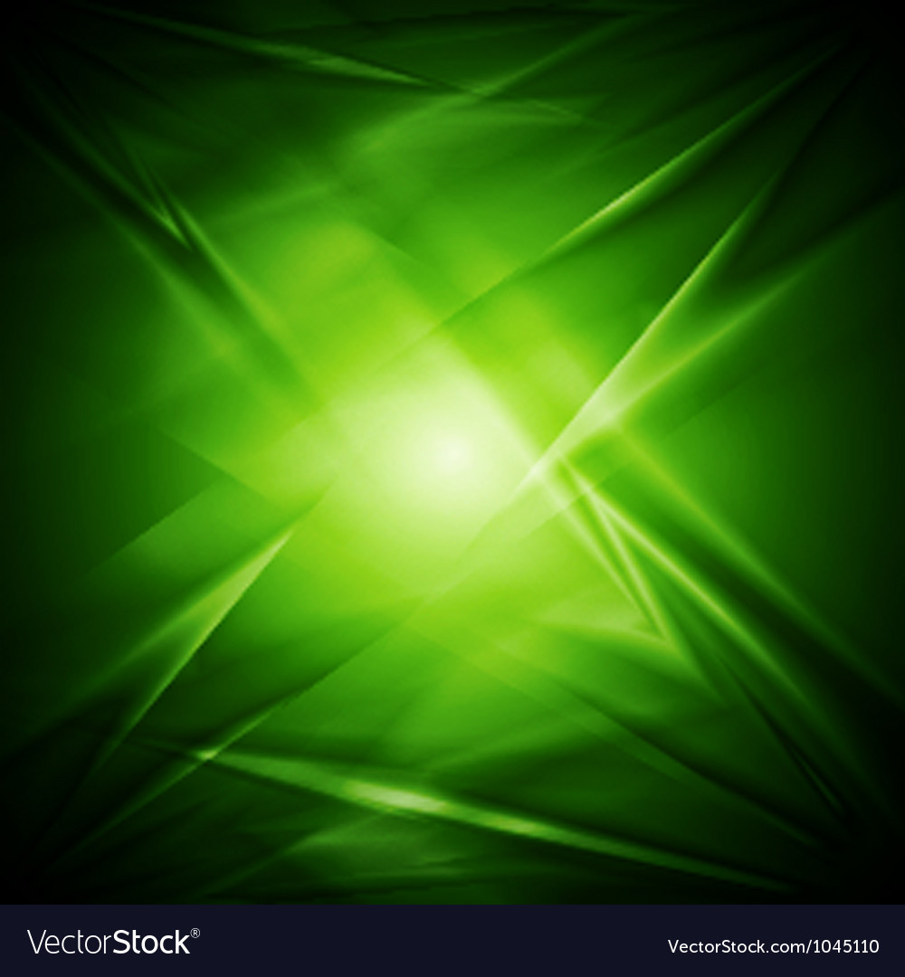 Abstract green wavy design vector