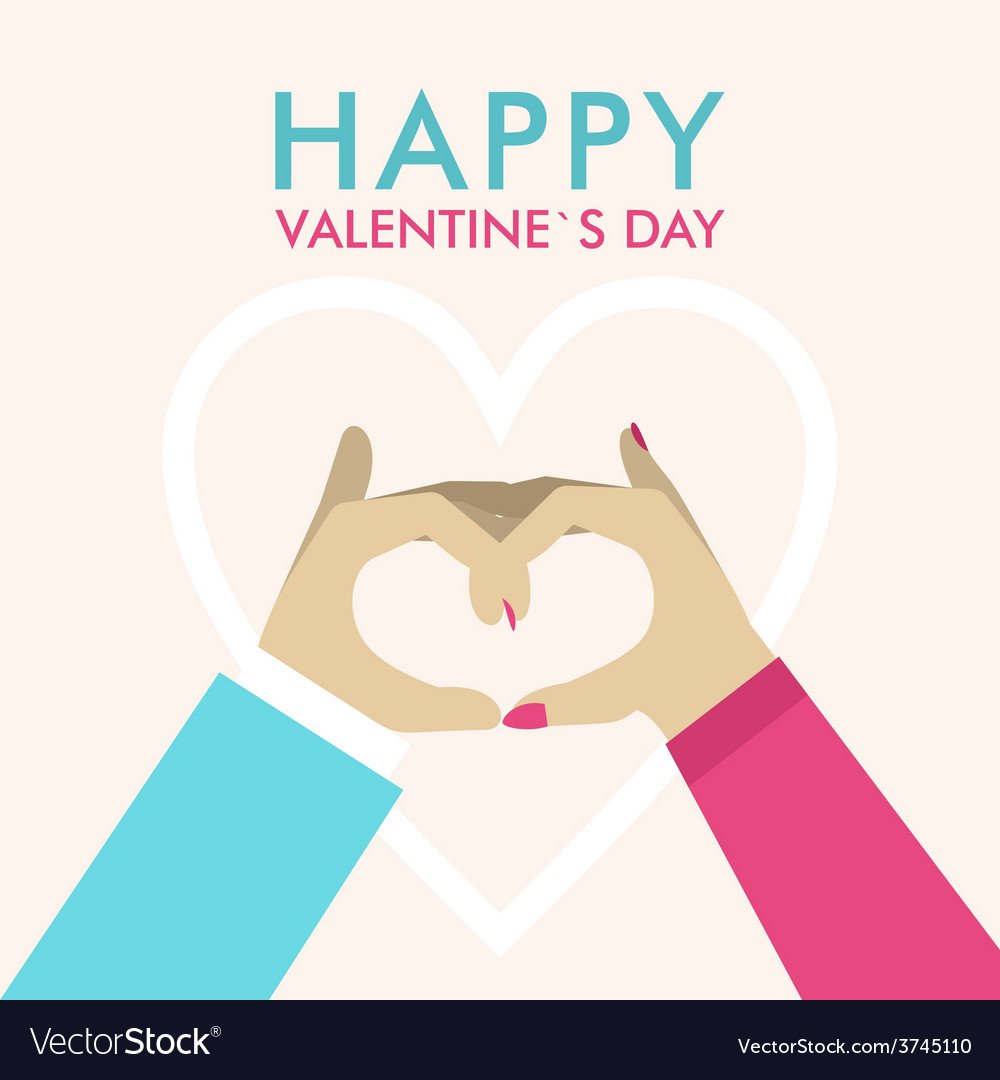 St valentines day greeting card in flat style male vector