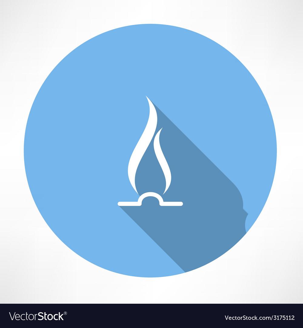 Gas flame icon vector