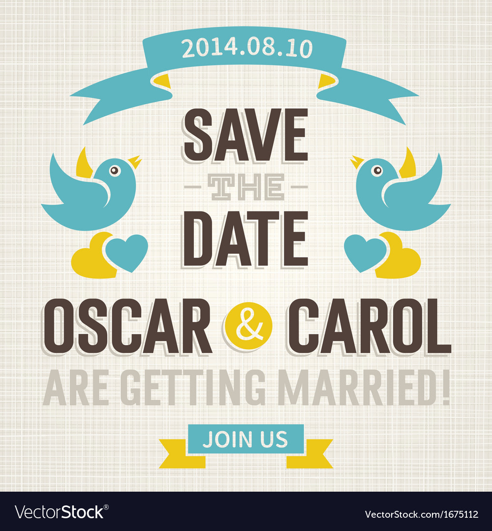 Wedding invitation in old style vector
