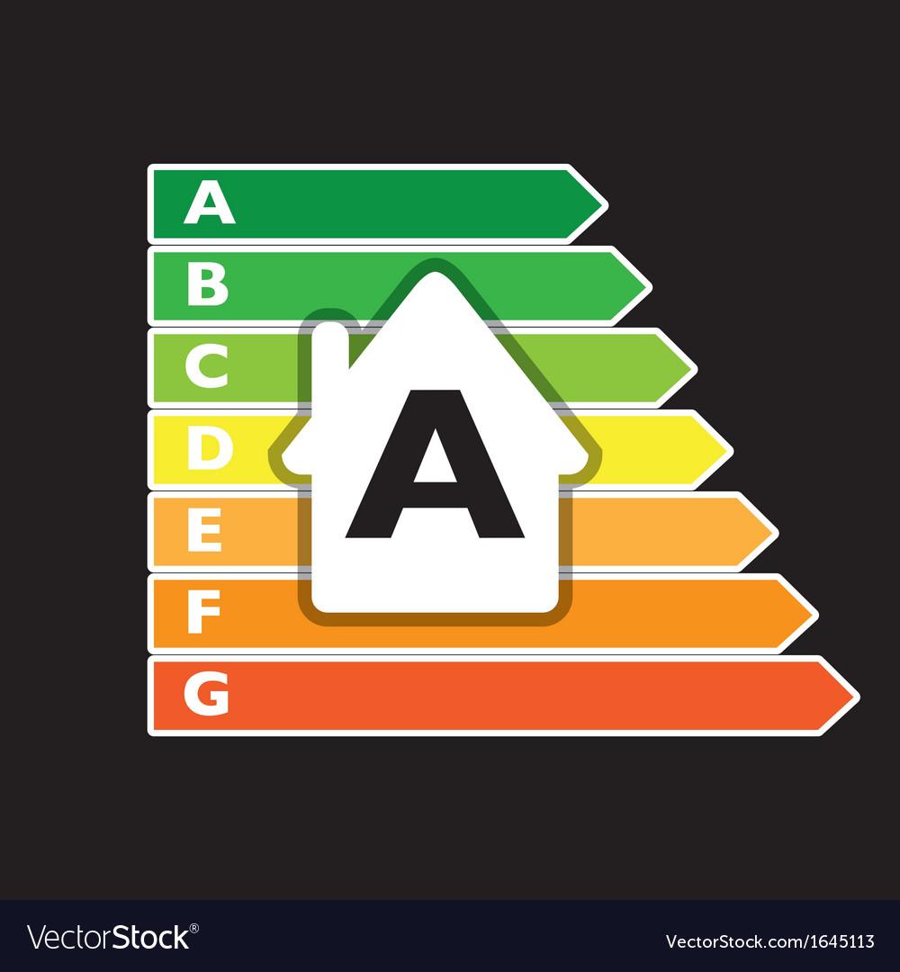 Energy report house vector