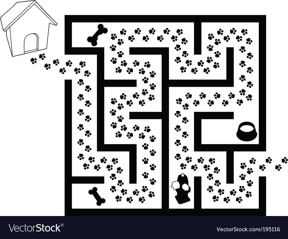 Maze puzzle vector