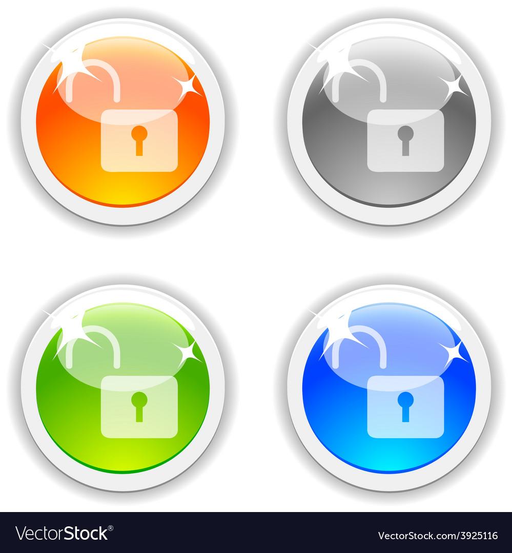 Padlock buttons vector