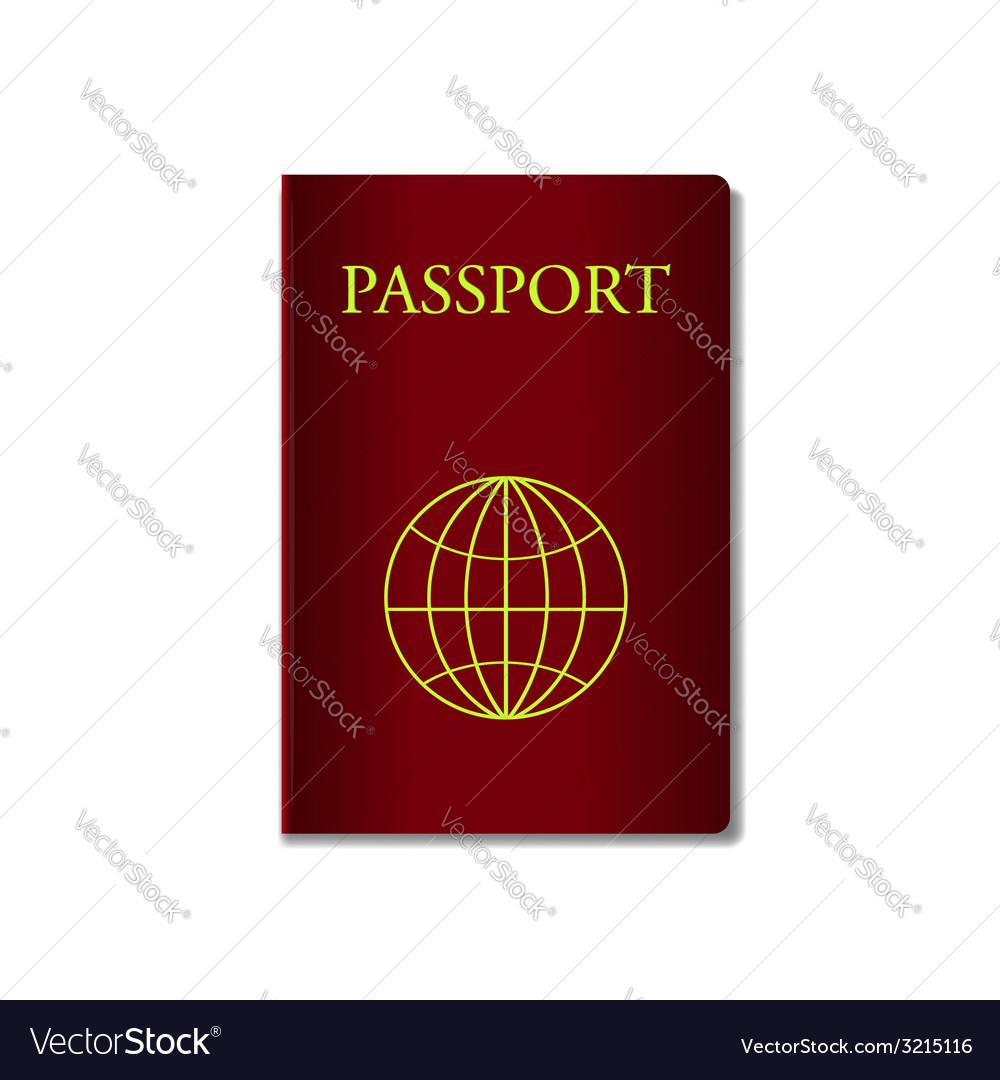 Red passport vector