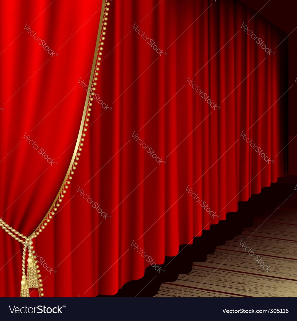 Theatre stage vector