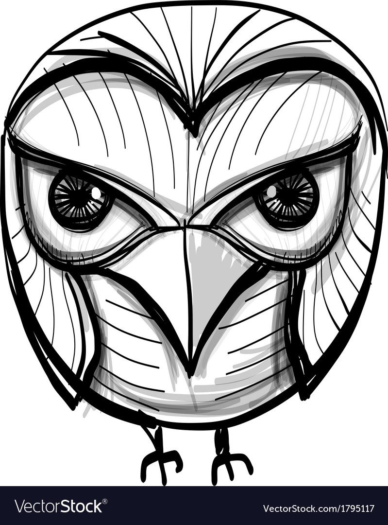 Smart owl education wisdom symbol vector