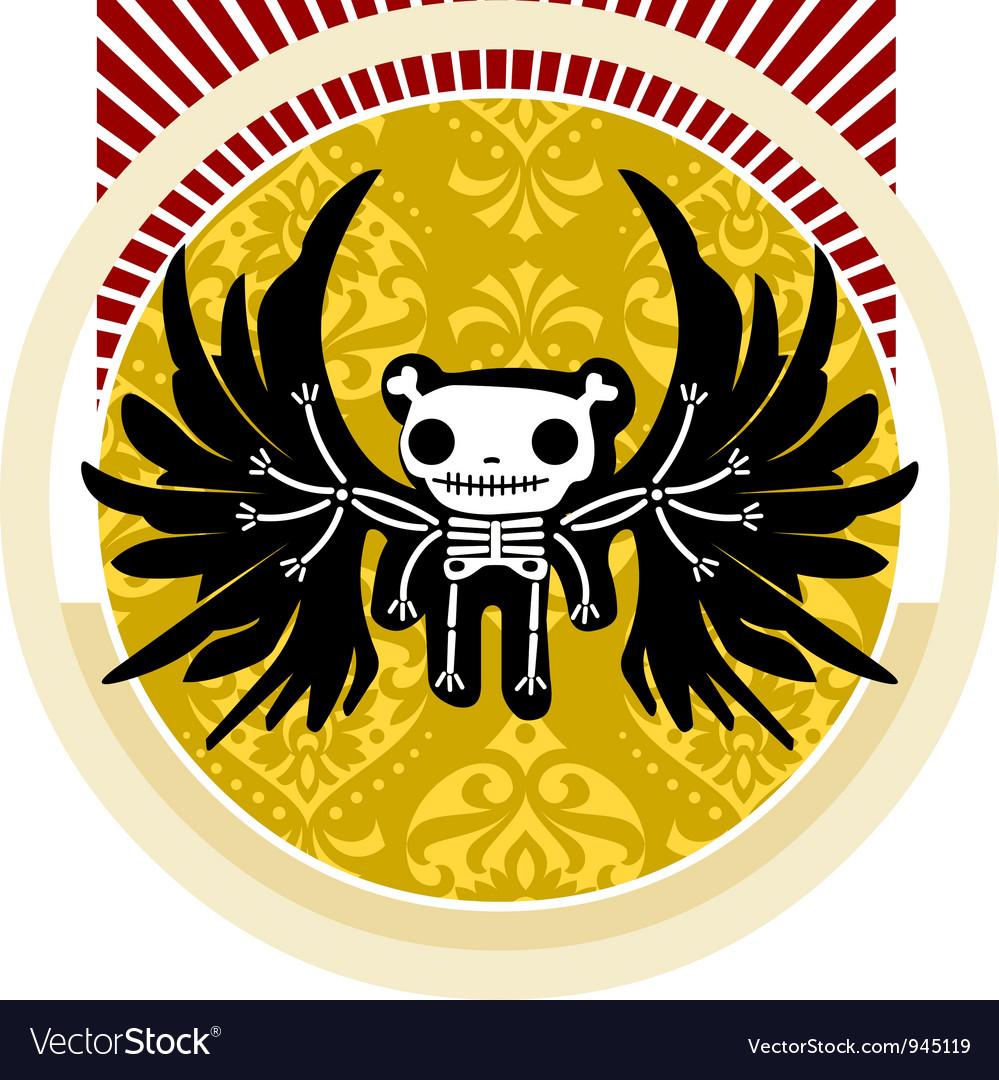 Cute skeleton vector