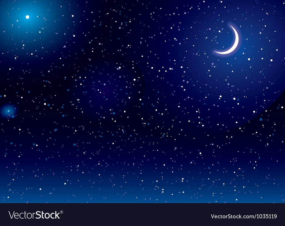 Space scape moon vector