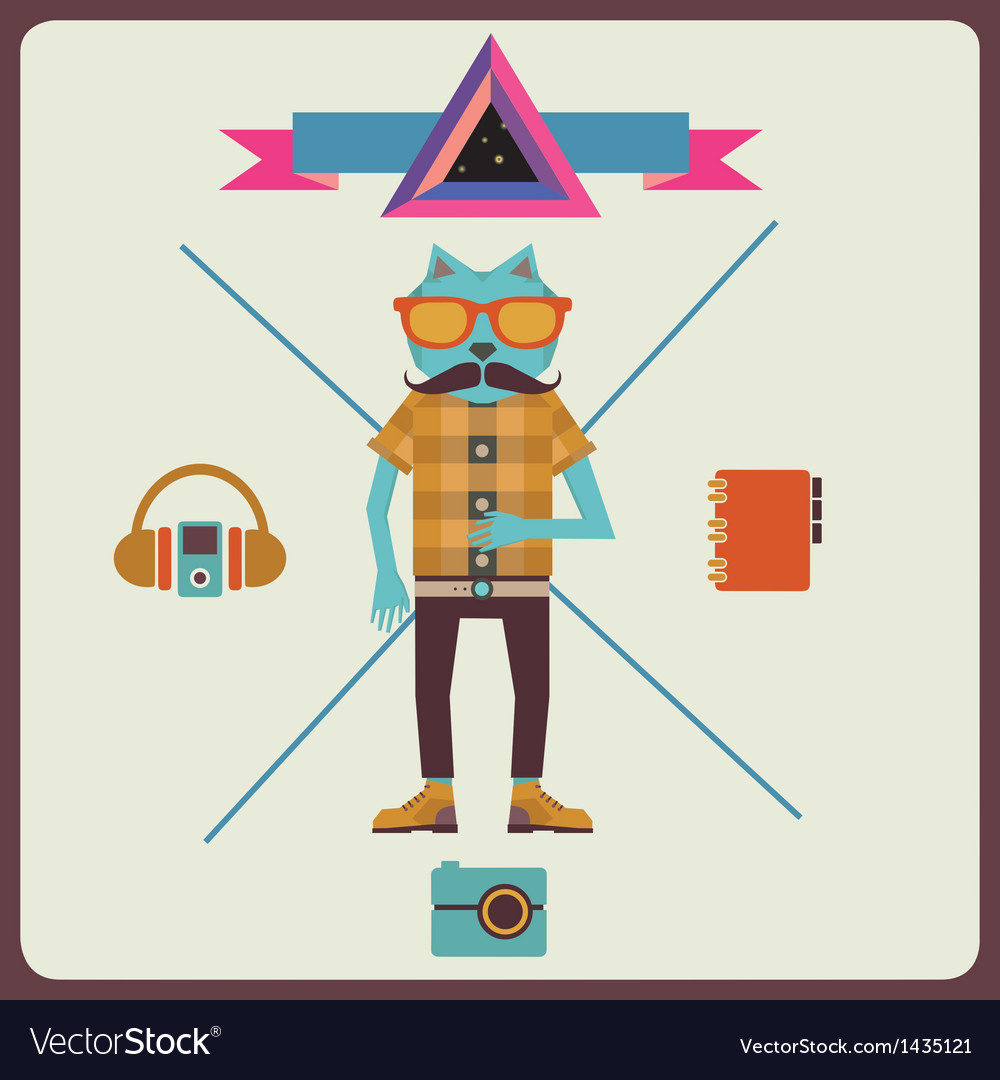 Minimalism concept of hipster vector