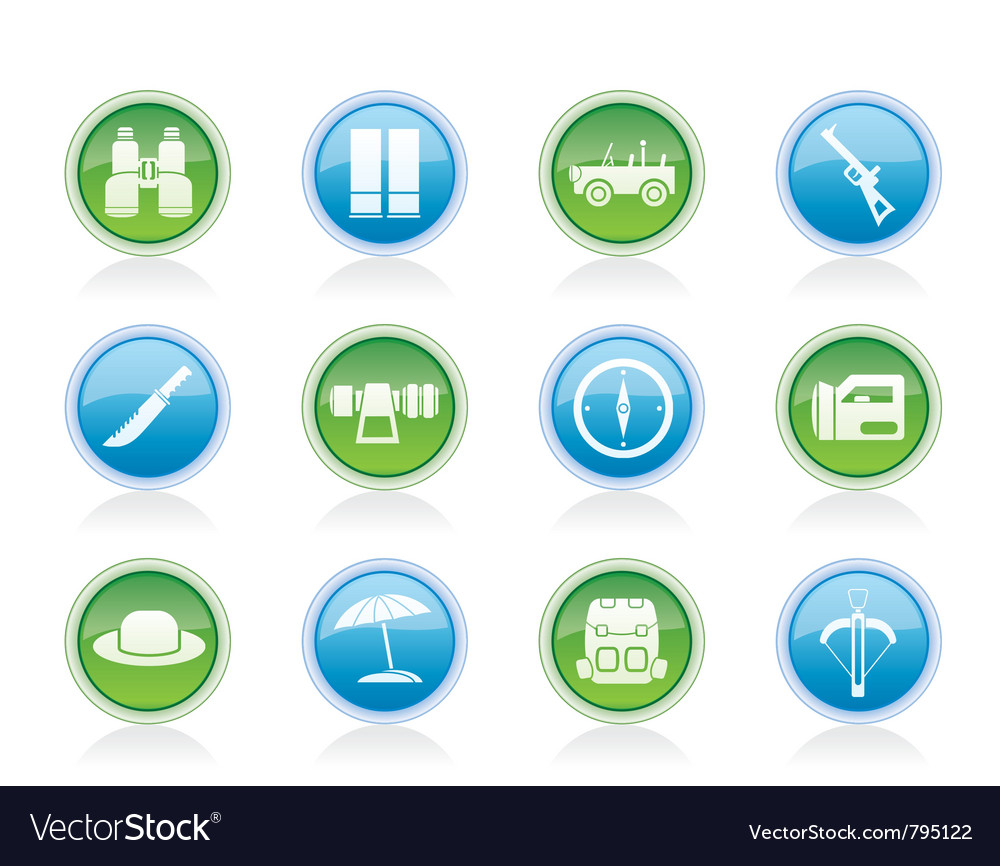Hunting and holiday icons vector