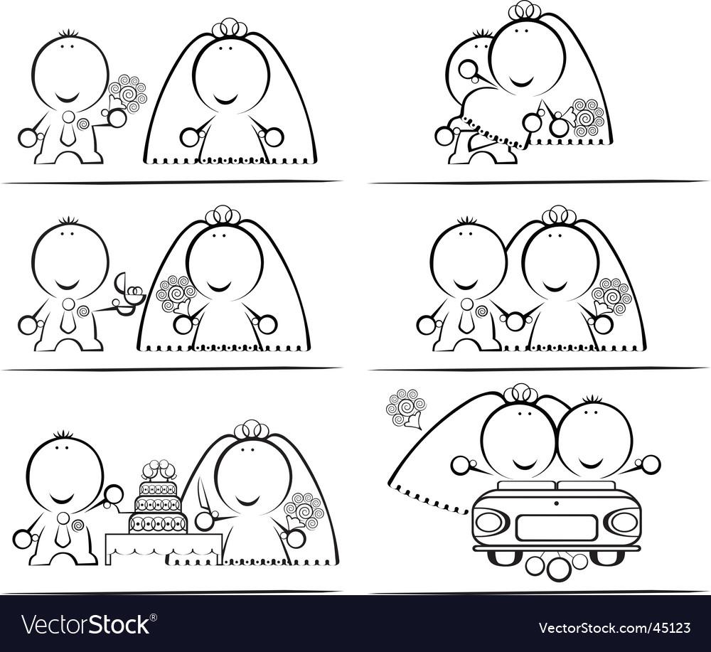 Wedding-day cartoon vector