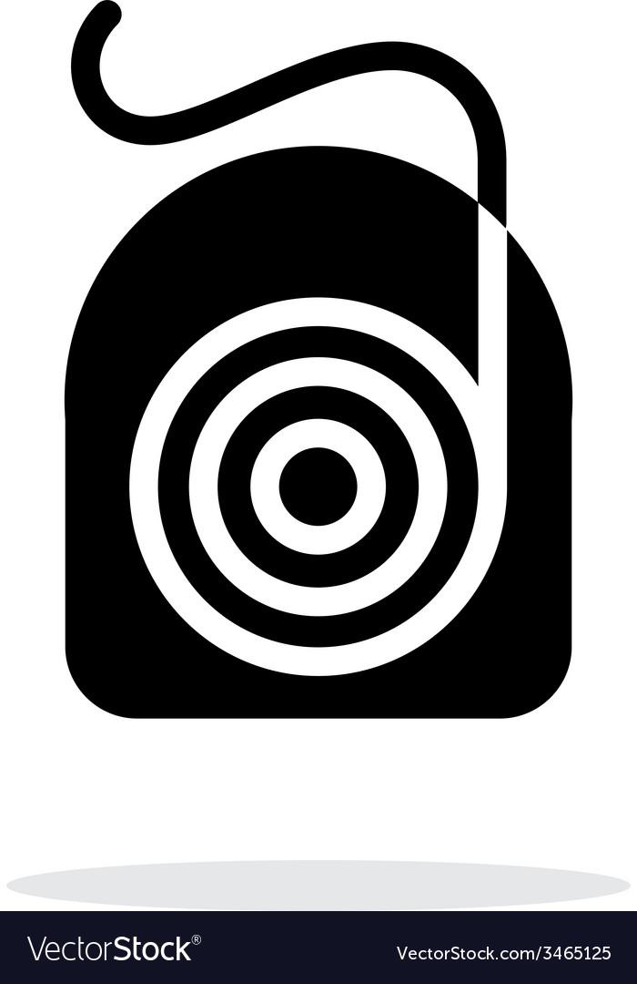 Dental floss icon vector