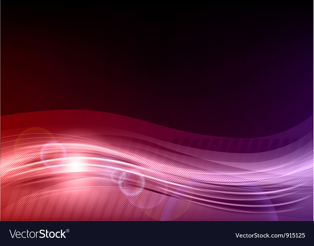 Wave abstract purple vector
