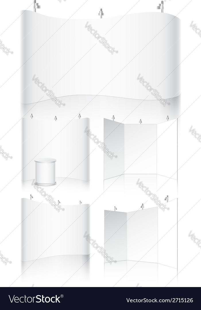 Trade show mockup vector
