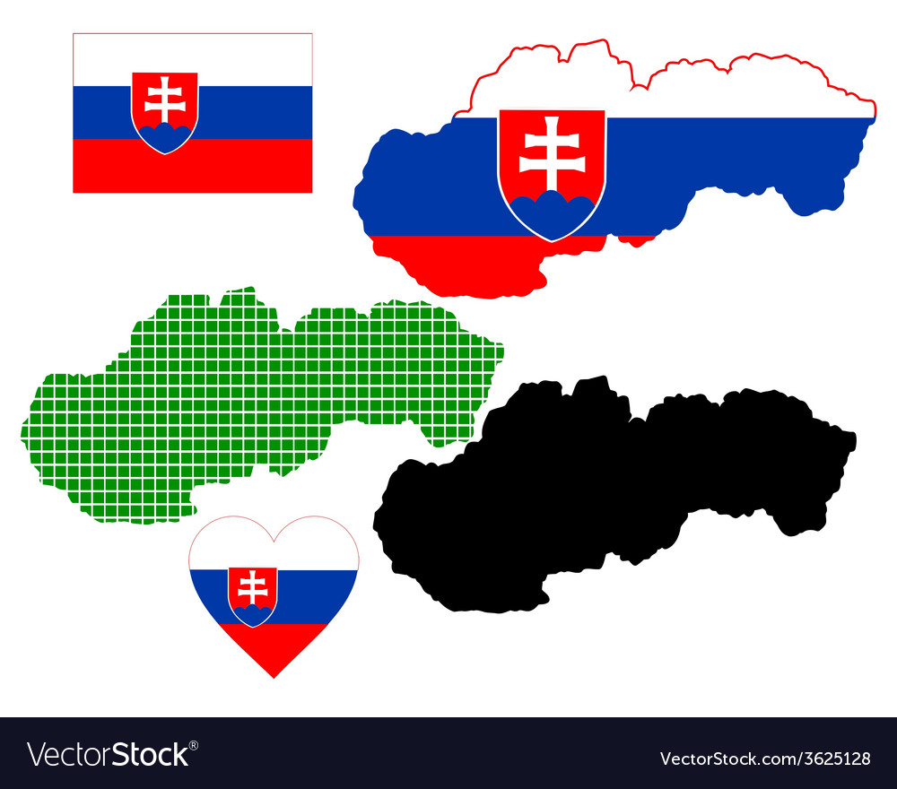 Map of slovakia vector