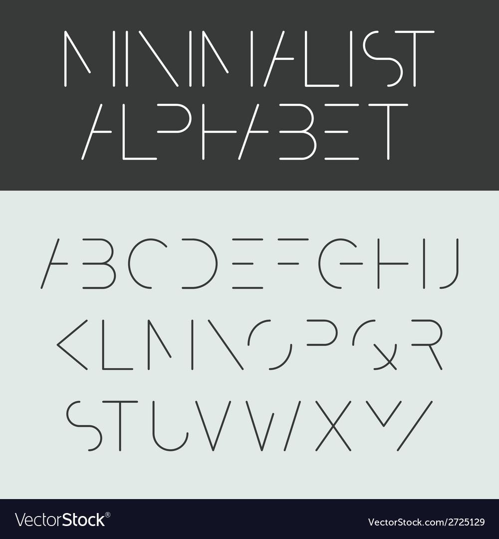 Minimalist alphabet vector