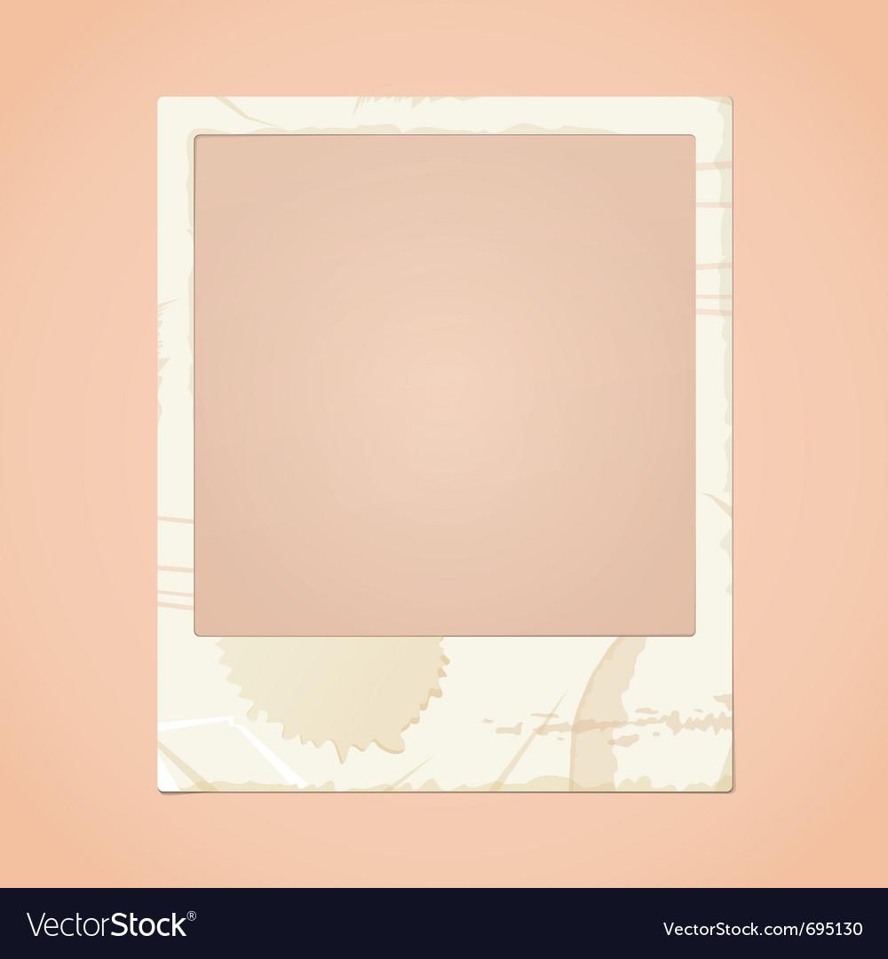 Dirty photo frame vector