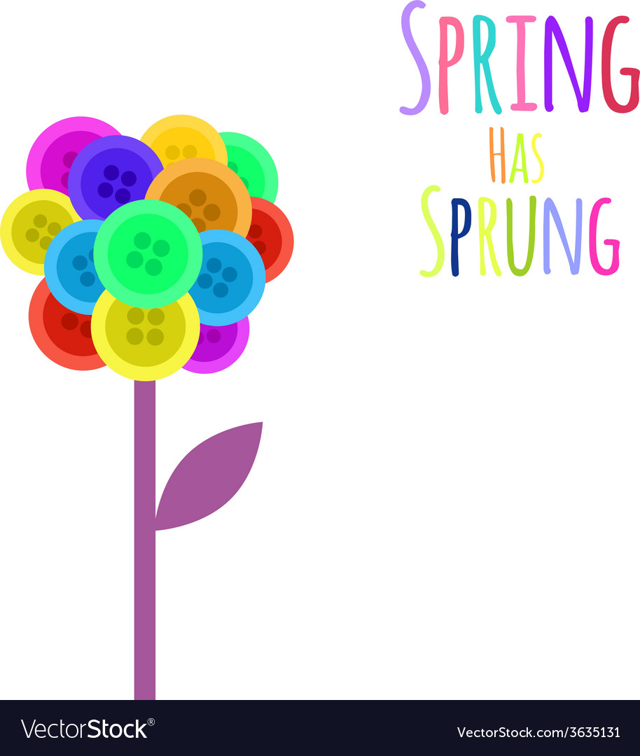 Abctract buttons flower spring has sprung vector