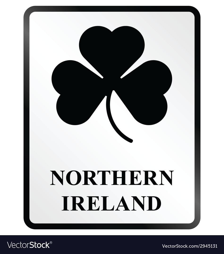 Northern ireland sign vector