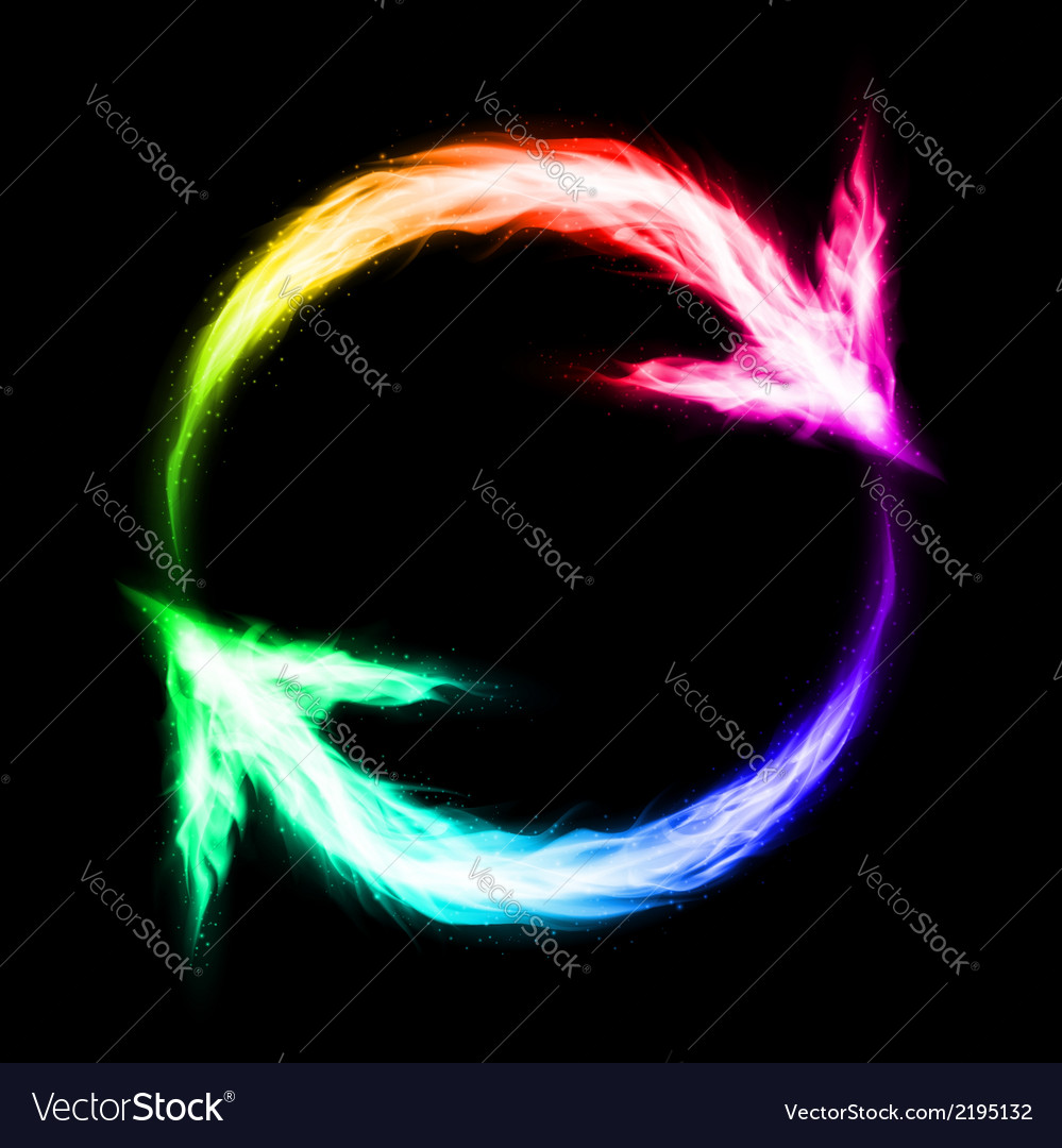 Circular blazing arrows vector