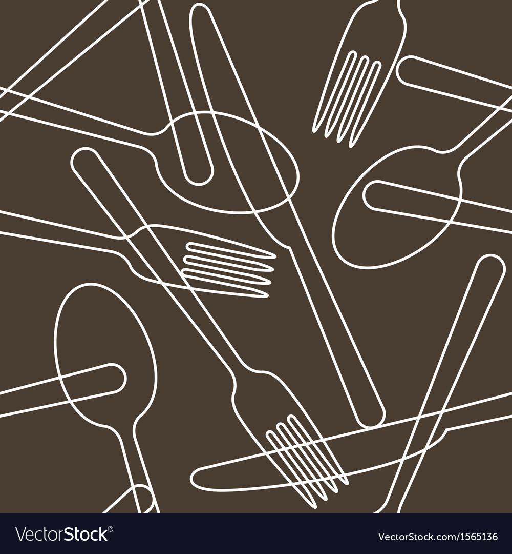 Cutlery pattern vector
