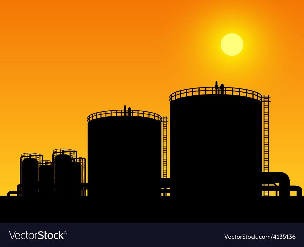 Oil tank storage vector