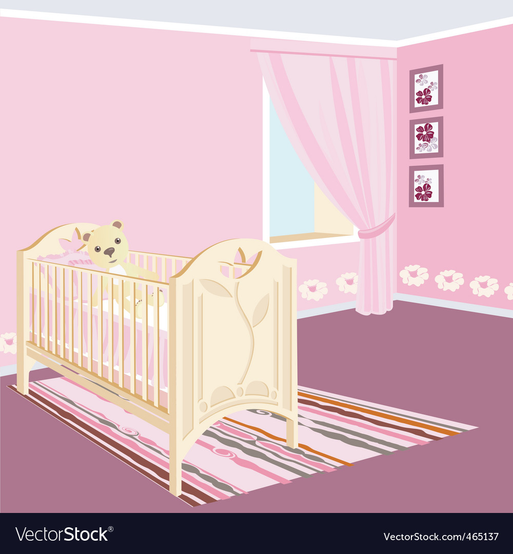Childrens room vector