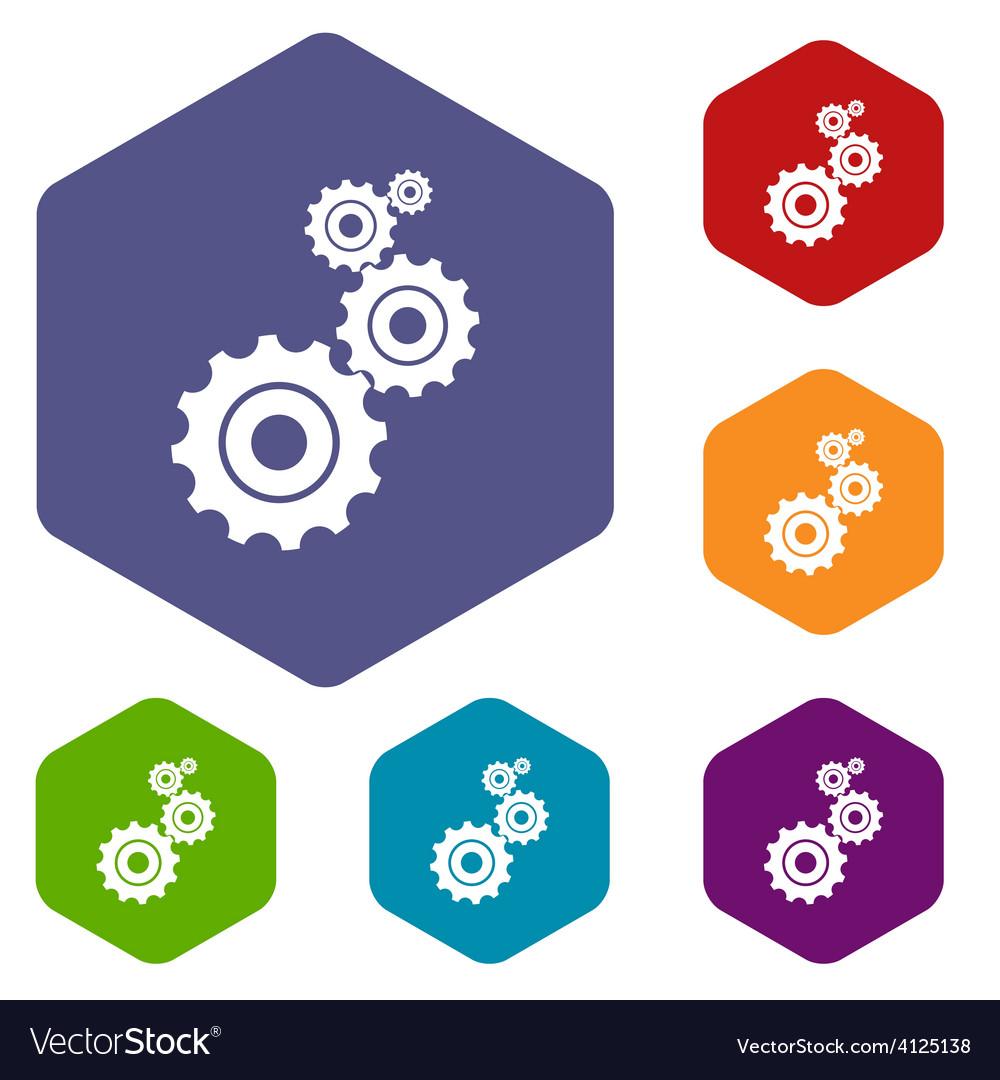 Mechanism rhombus icons vector