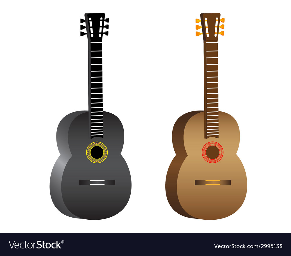 Two guitars vector