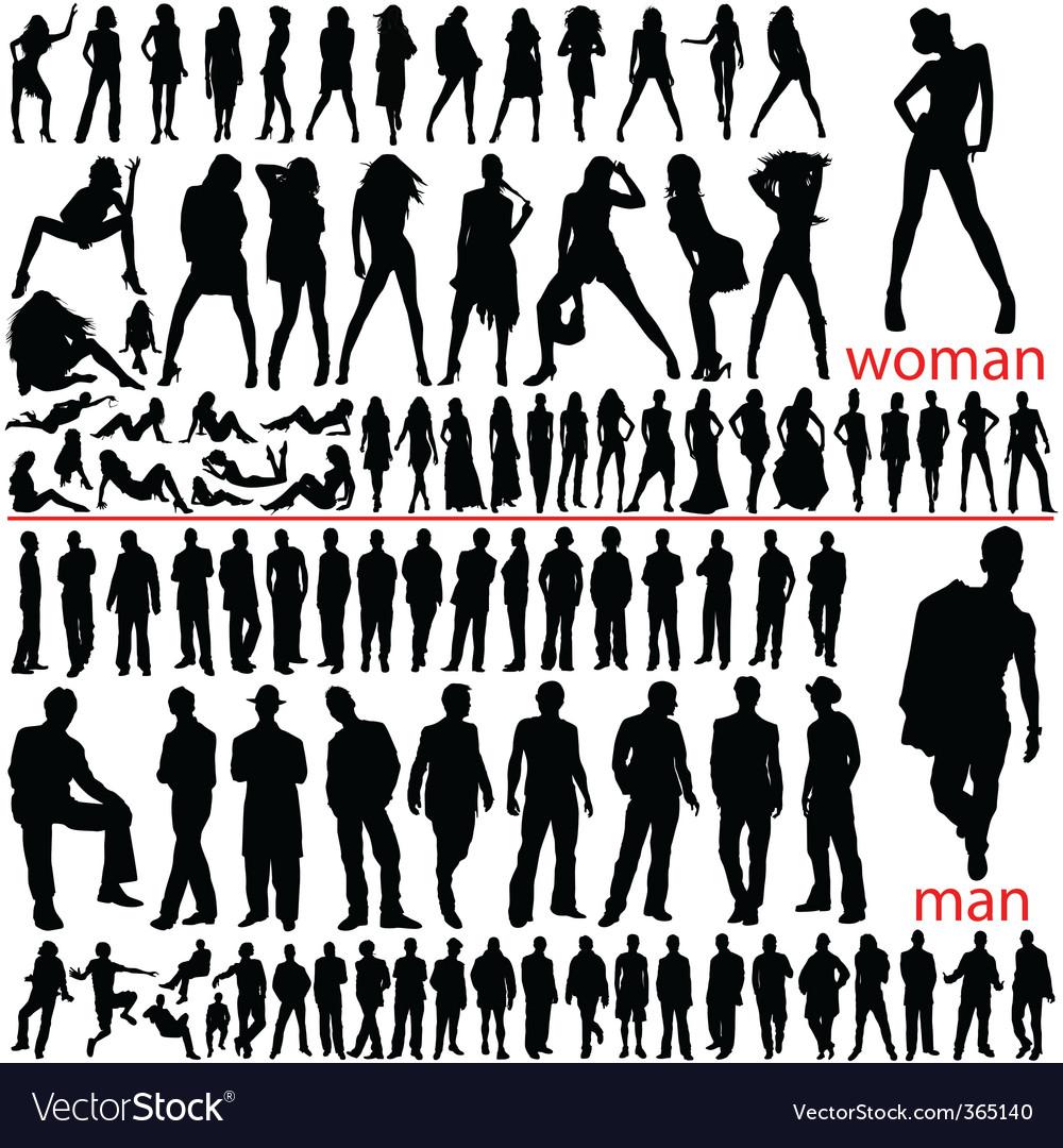 100 fashion people vector