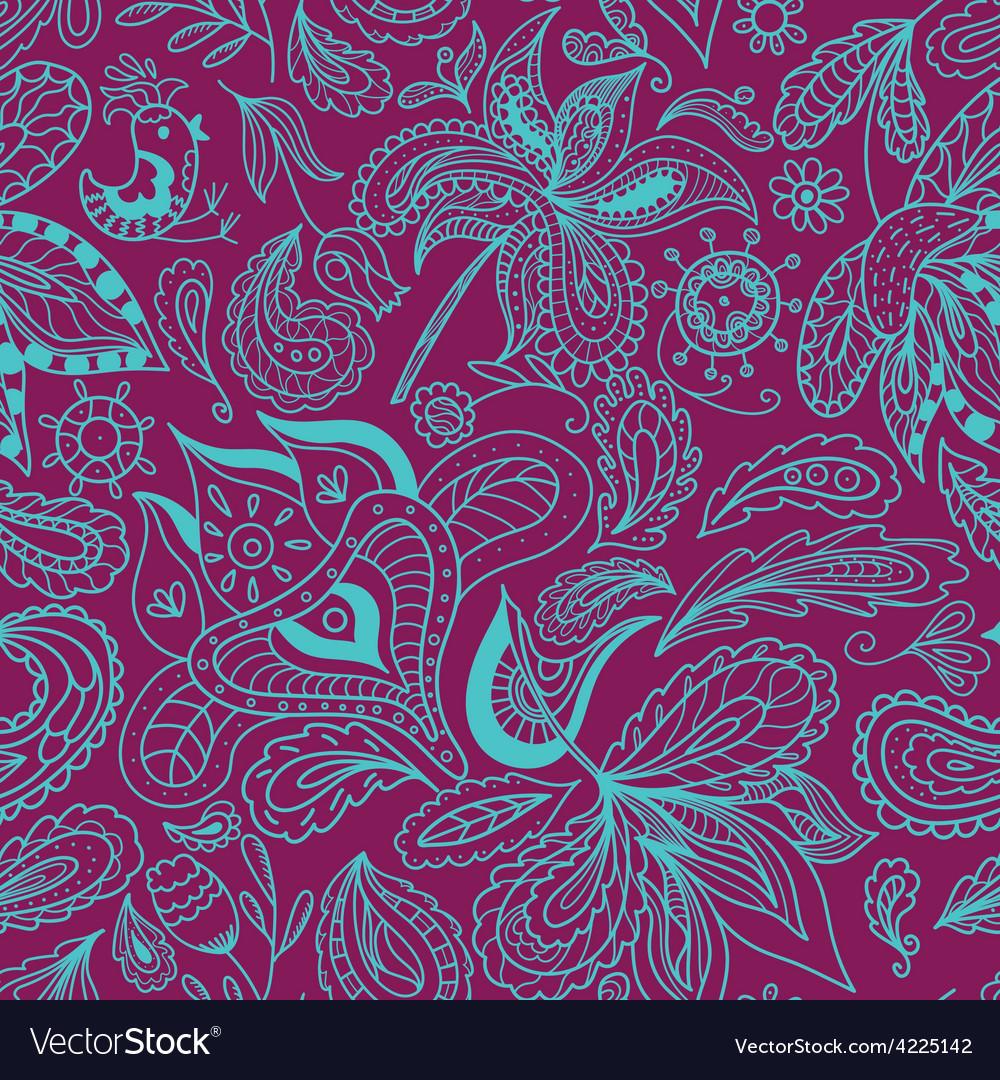 Bali spa ornamental pattern vector