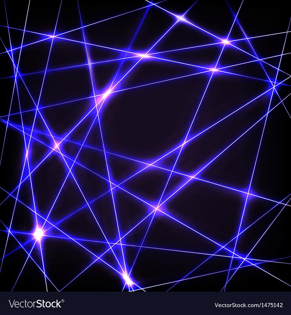 Chaotic crossing neon lines vector