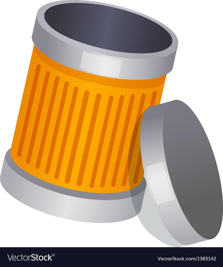 Icon trash can vector
