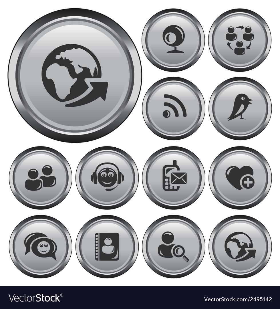 Social network buttons vector