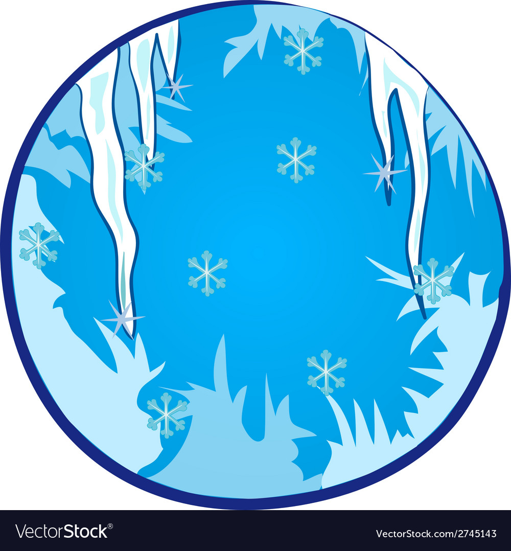 Winter season window vector