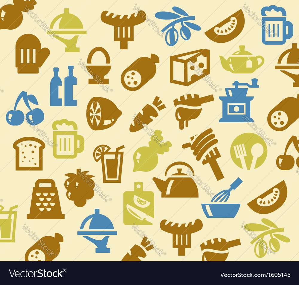 Color kitchen vector
