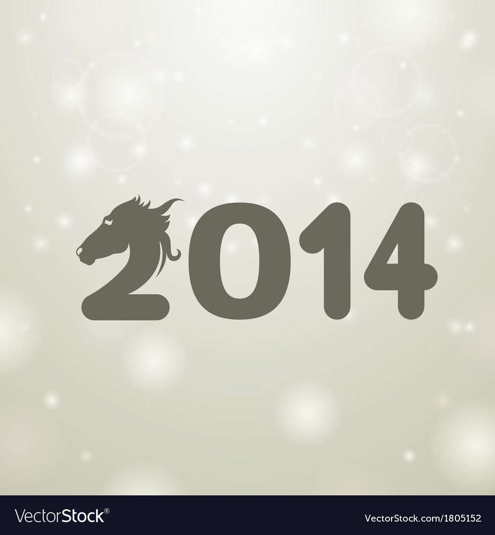 Gray 2014 snow white background vector