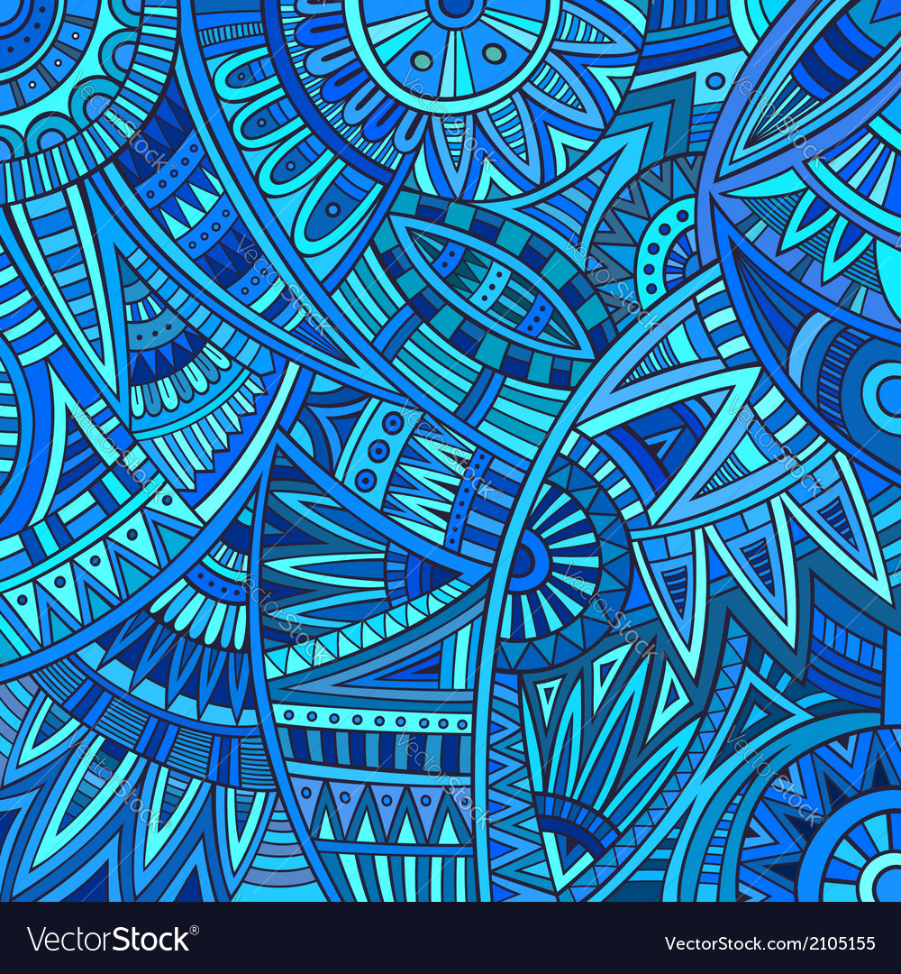 Abstract tribal ethnic pattern vector