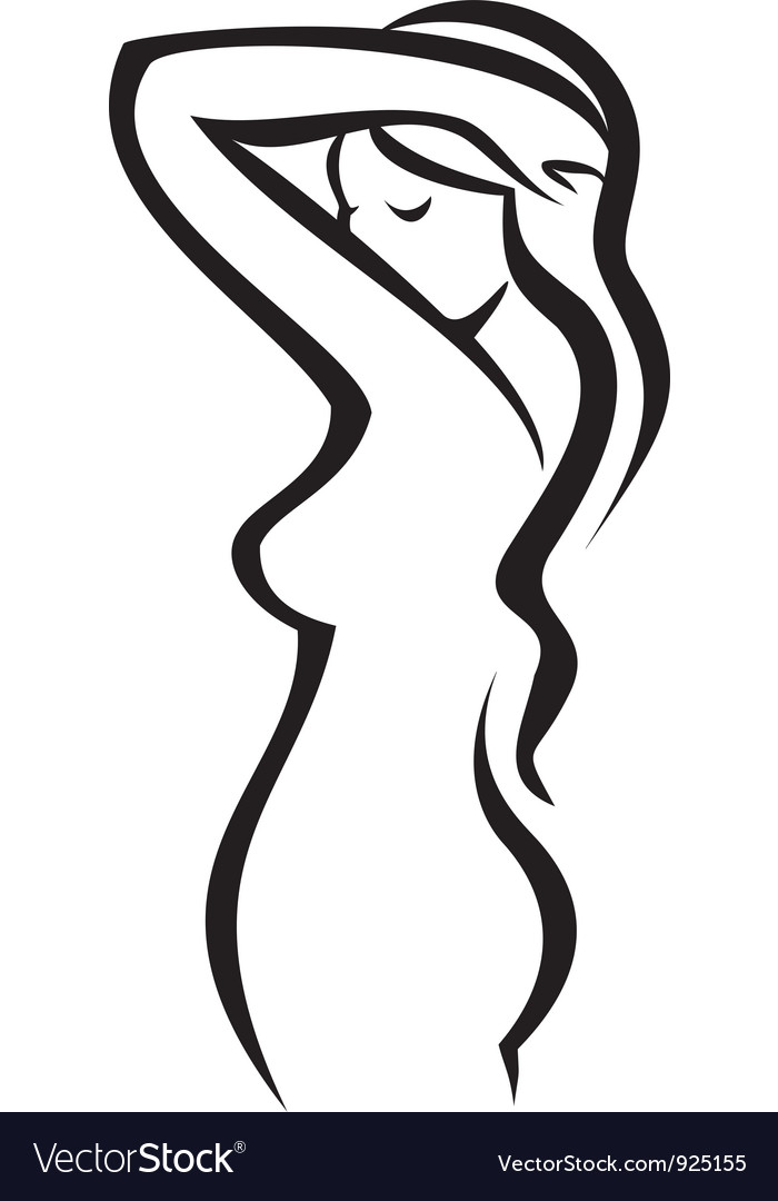 Female figure silhouette vector