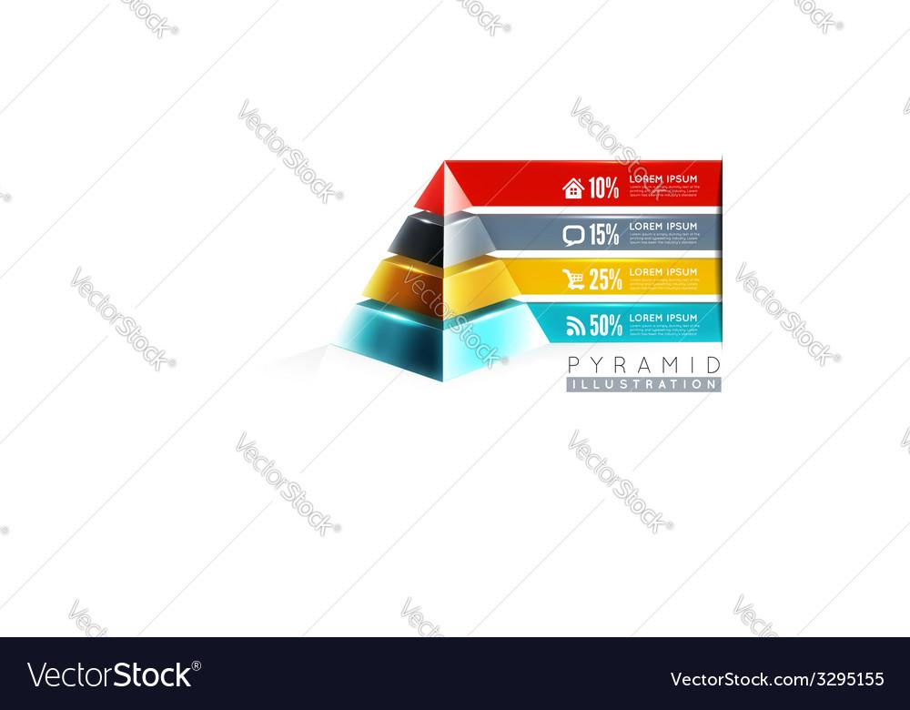 Pyramid infographic design vector