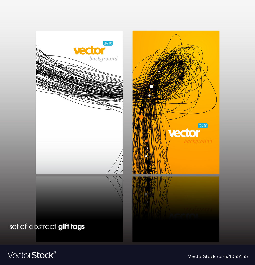 Set of gift card with lines vector