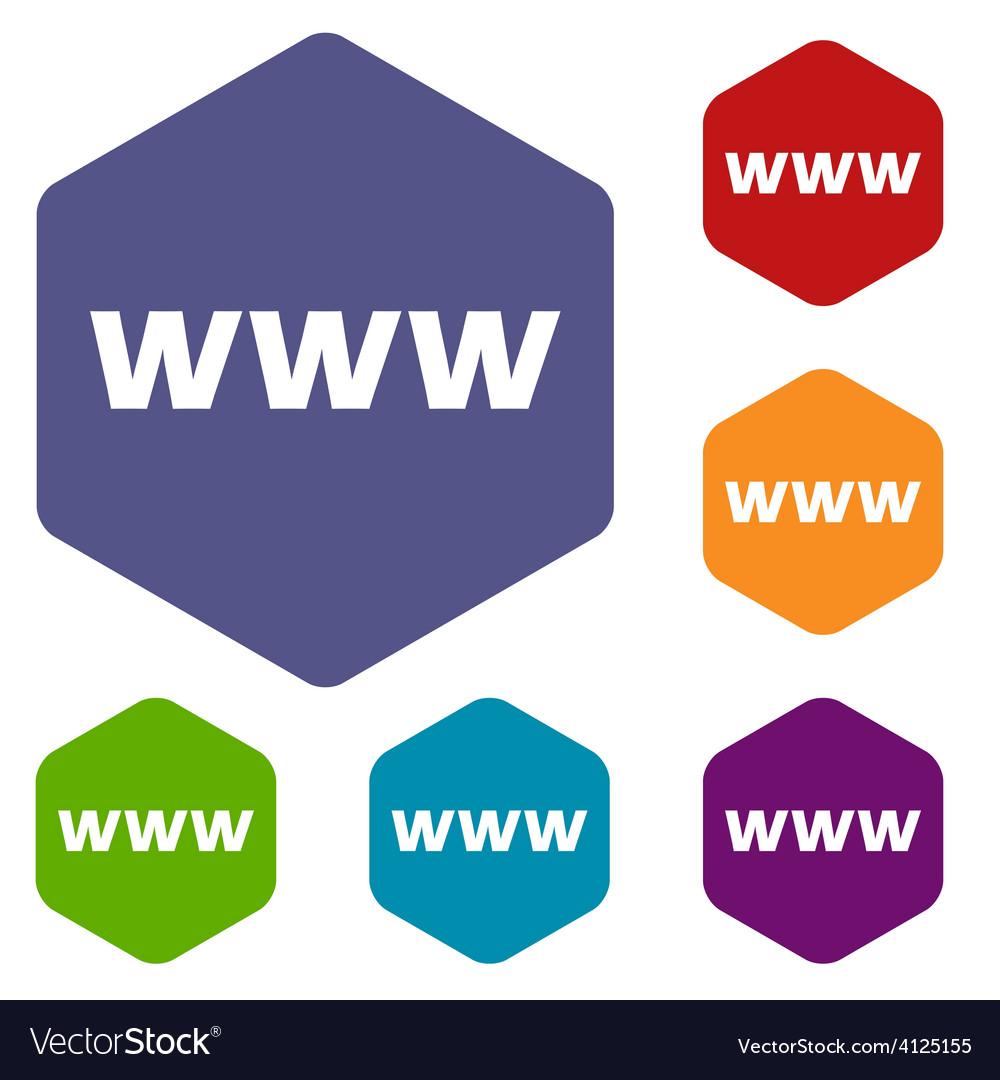 Www rhombus icons vector