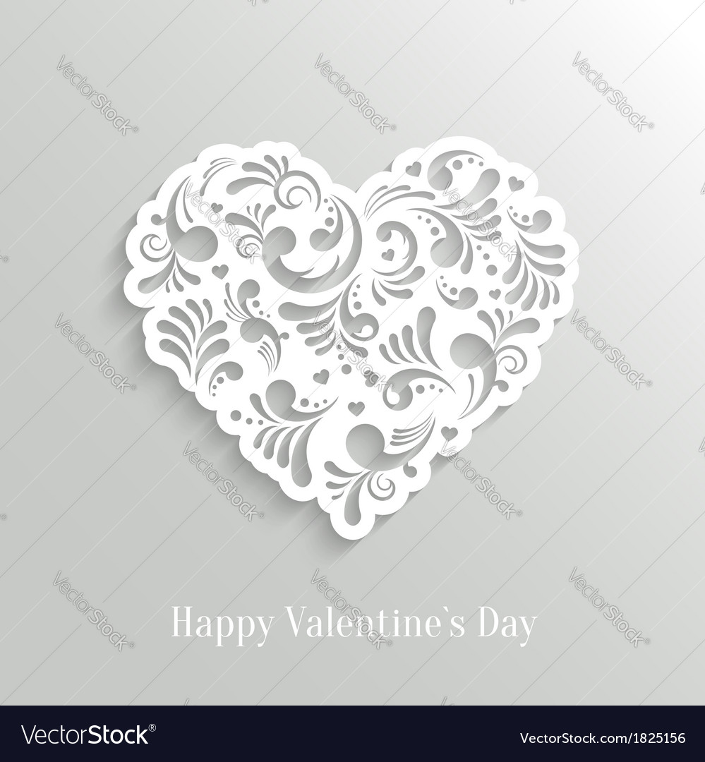 Absrtact floral heart background vector