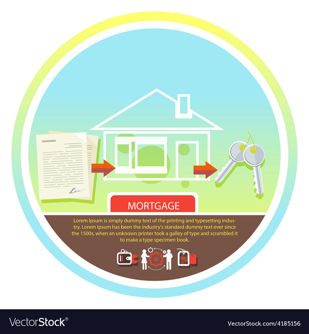 Approved mortgage loan application vector